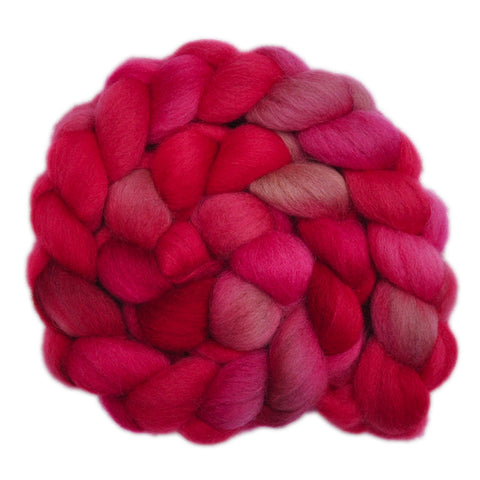 UK Organic Wool Roving - Fair as a Rose 1 - 4.0 ounces