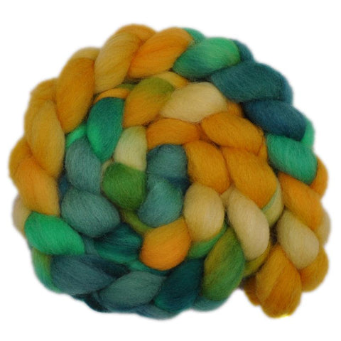 Finn Wool Roving - Sunflowers 1- 4.1 ounces