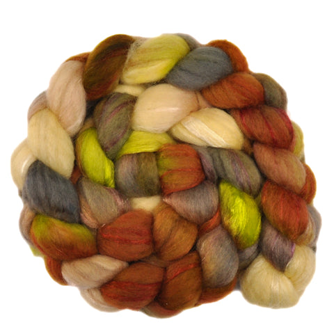 BFL Wool / Trilobal Nylon 70/30% Roving - Fossil Shells 1 - 3.8 ounces