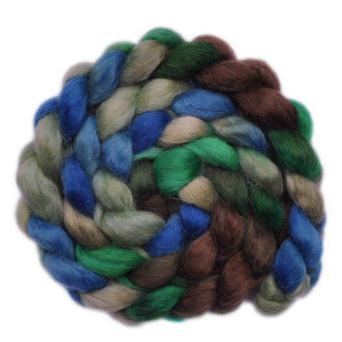 Teeswater Wool Roving - Blowing Branches - 4.0 ounces