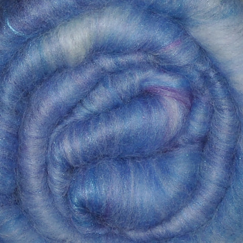 Spinning fiber batt, mixed fibers - Airy Clouds - 2.0 ounces