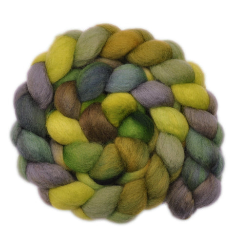 BFL Wool Roving - Fertile Ground 1 - 4.0 ounces