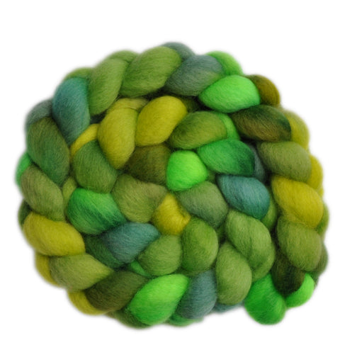 BFL Wool Roving - Grasshopper - 4.0 ounces