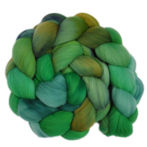 Rambouillet Wool Roving - In Full Leaf 1 - 4.1 ounces