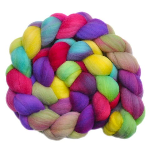 Merino Wool Roving, 19 micron - Dancing on the Grass - 4.1 ounces
