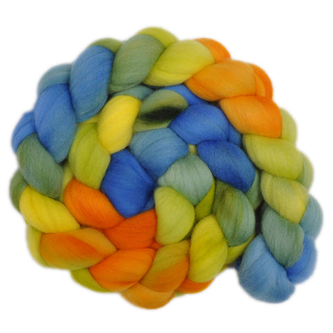 21.5 micron Merino Wool Roving - Balmy Days 2 - 4.0 ounces