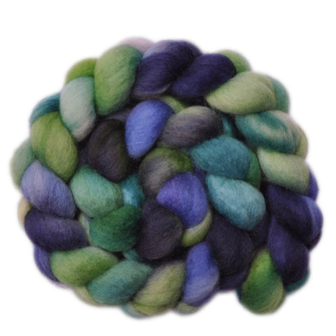 BFL Wool Roving - Frosty Leaves - 4.0 ounces