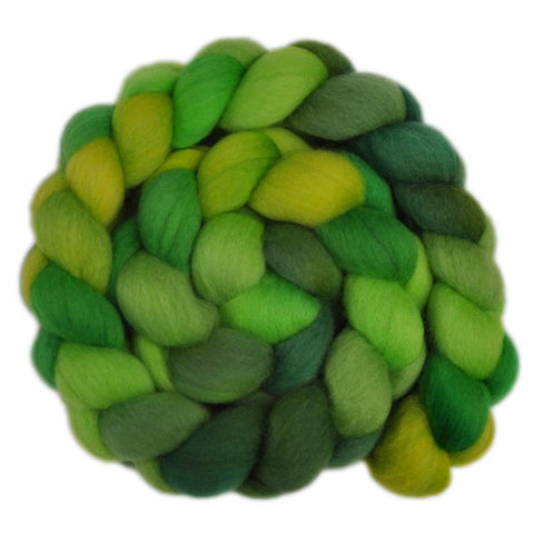 Falkland Wool Roving - Green Shoots 1 - 4.1 ounces