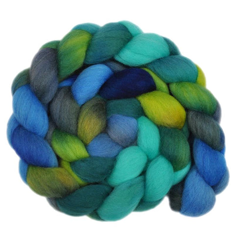 South American Wool Roving - Streaming Waters 2 - 4.1 ounces