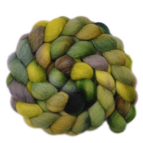 BFL Wool Roving - Fertile Ground 2 - 4.0 ounces