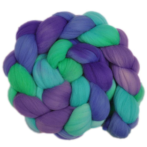 Rambouillet Wool Roving - Cheerful Vision 2 - 4.2 ounces