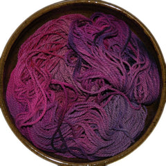 Hand painted Columbia wool worsted weight yarn