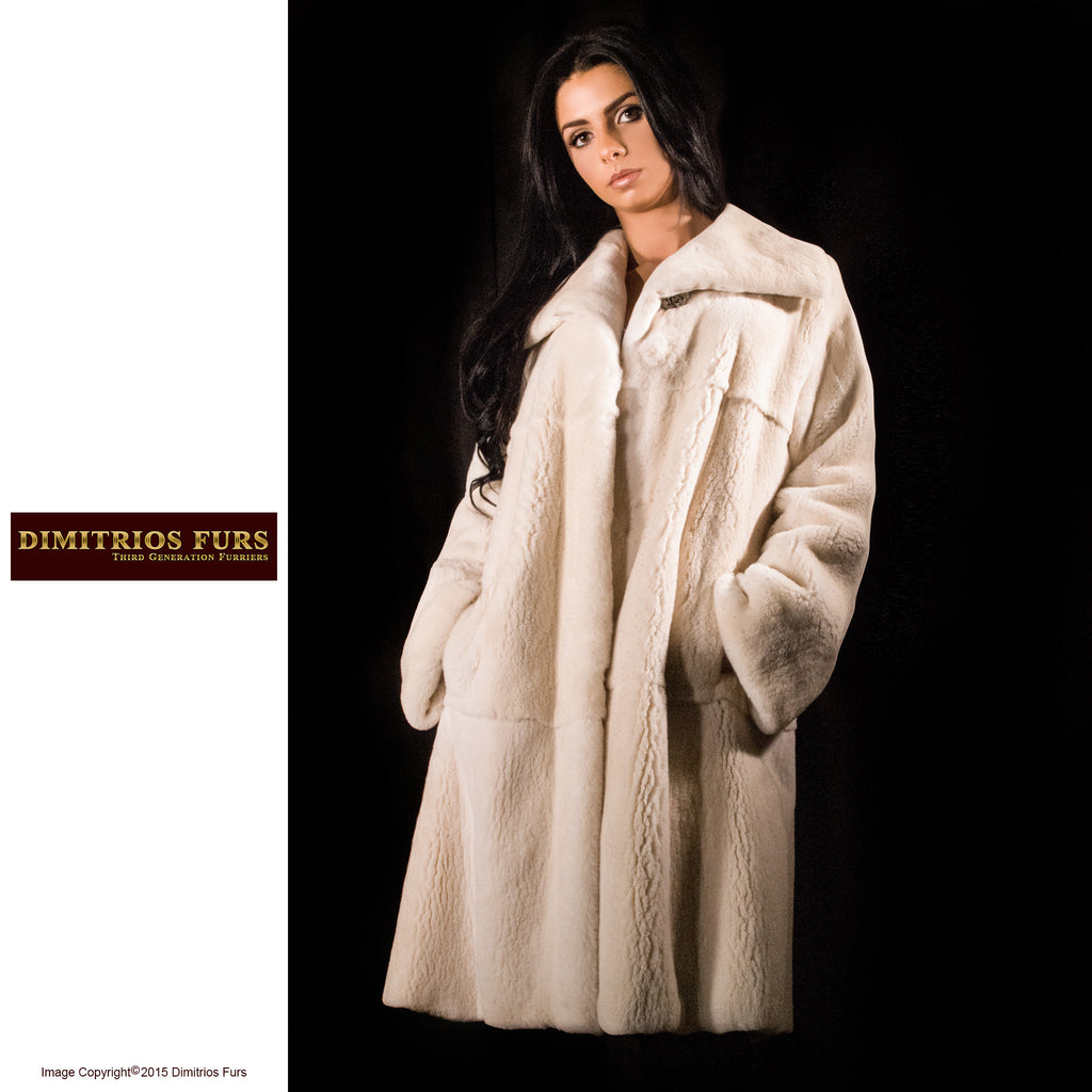 Fur Coat - Sheared Cream Mink Coat