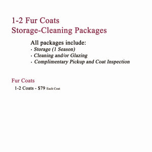 Storage-Cleaning-Disinfect Packages for 1-2 Fur Coats
