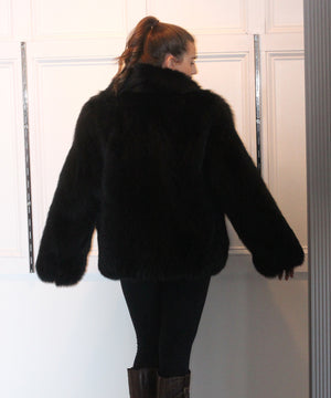 Black Fox Jacket Full Skin