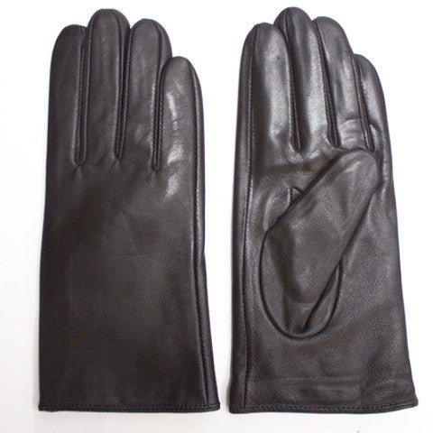 black lambskin leather gloves for women