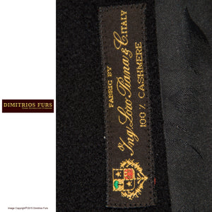 Cashmere Cape - Loro Piana Cashmere Cape with Leather Applique