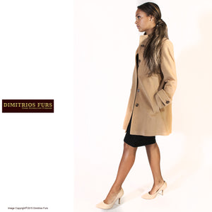 Virgin Wool and Alpaca Tan Coat