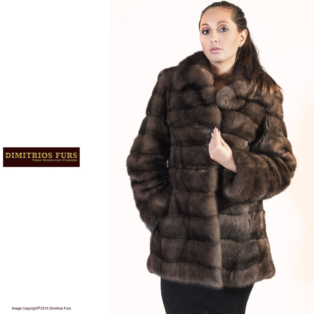 Fur Coat - Horizontal Russian Sable – Dimitrios Furs for Sable Fur Cape  186ref