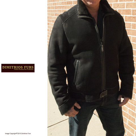 Men's Black Bosado Merino Shearling