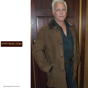 Men's Dark Brown Merino Shearling Jacket