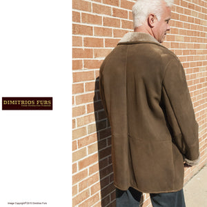 Men's Medium Brown Merino Shearling Jacket