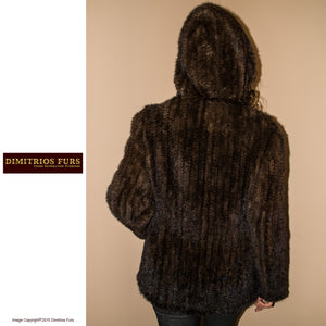 Knitted Fur Jacket - Demi Buff Mink
