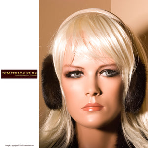 Earmuffs - Mahogany Mink - Blonde Head Band