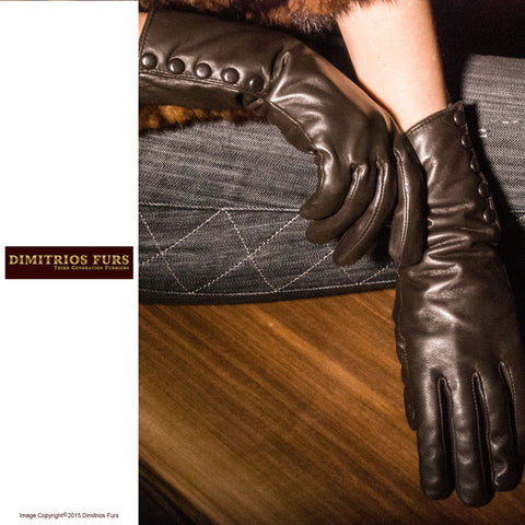 Women's Lambskin Leather Gloves - Paris