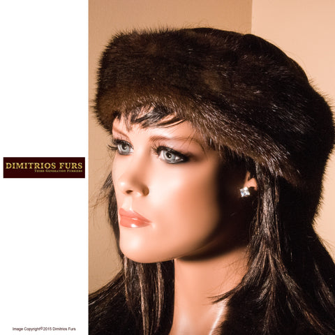Fur Headband - Dark Brown Mink