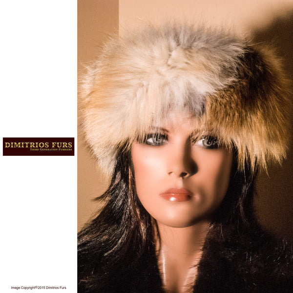 Fur Headband - Golden Island Fox Fur