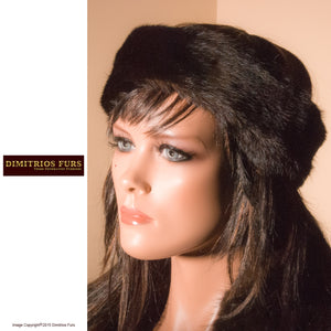 Fur Headband - Black Mink