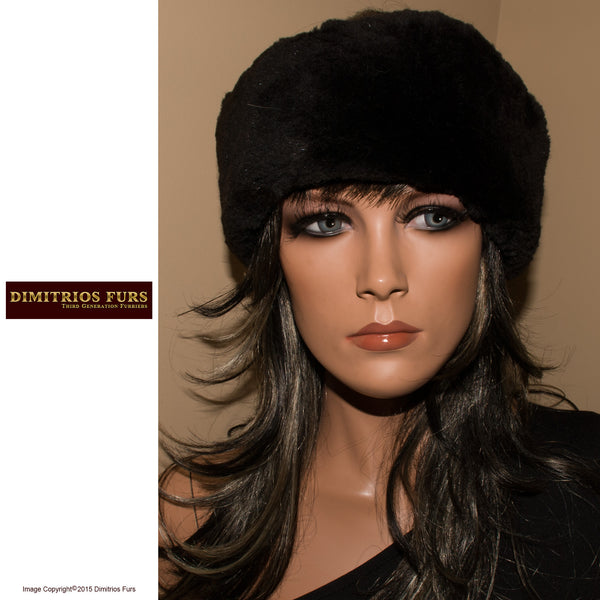 Fur Headband - Black Beaver