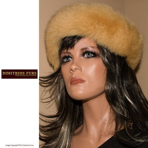 Fur Headband - Golden Fox with Short Nap Fur