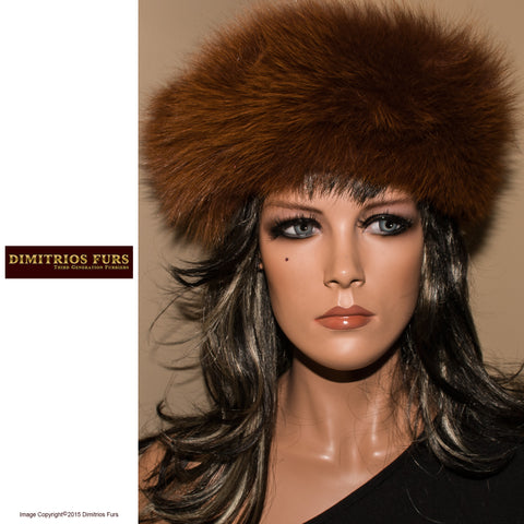Fur Headband - Chestnut Fox Fur Headband