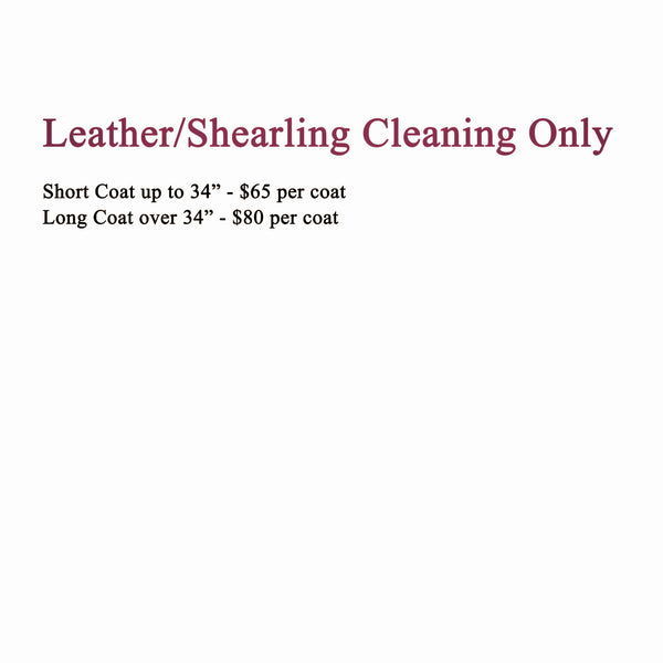 Cleaning Only - Leather or Shearling Starting at: