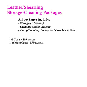 Storage-Cleaning-Disinfect Pickup Packages for Leather or Shearling