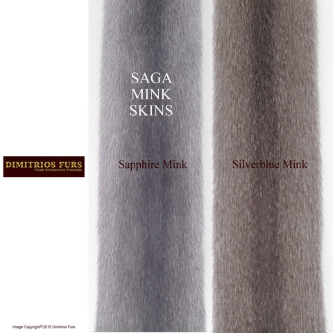 Mink Fur Skins for Custom Coats