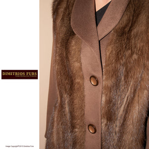 Fur Remodeling Idea 0020 - Mink Cashmere Jacket with a vintage vibe