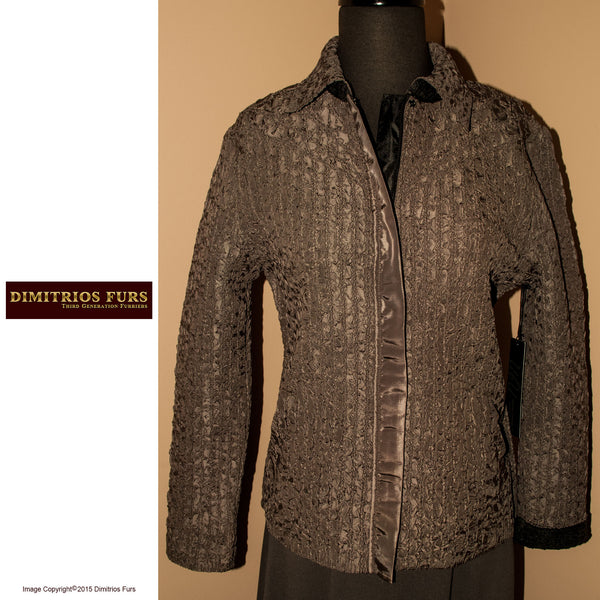 Black-Moss Reversible Microfiber Jacket
