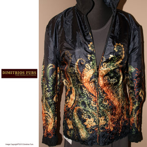 Onyx-Tattoo Reversible Microfiber Jacket