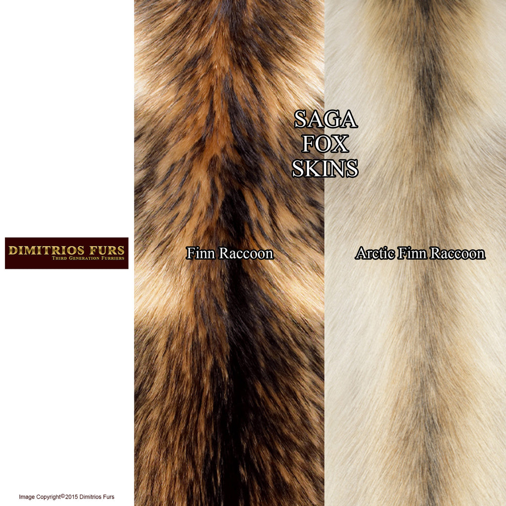 Raccoon Fur Skins for Custom Outerwear