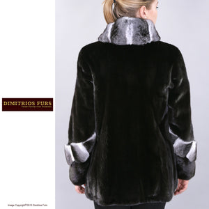 Custom Fur - Mink and Chinchilla Trimmed Jacket