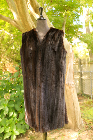 Ranch Mink Duster Vest