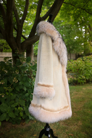 Sheared Persian Lamb w/ Rex Chinchilla and Raccoon Trim Jacket
