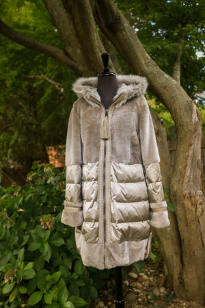 Shearling Combination w/ Poly Rainwear and Hood