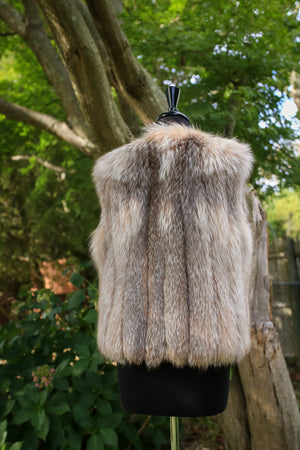 Soft Feathered Coral Fox Vest