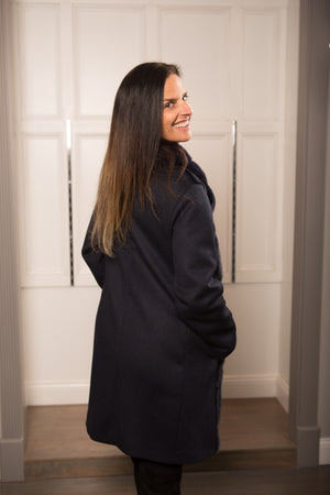 Coat Crossover with decorative buckle