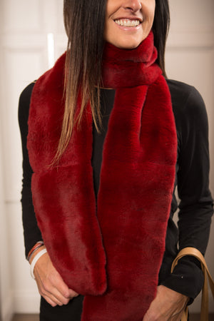 Sheared Mink Long Scarf