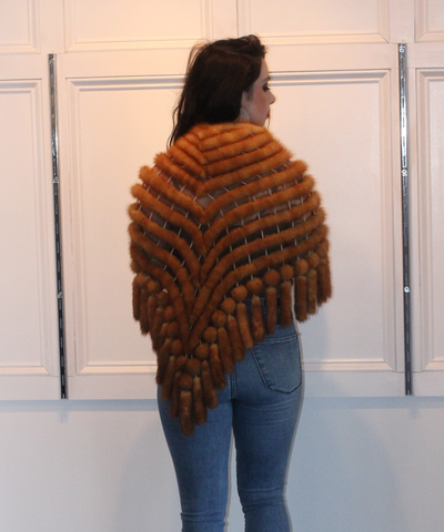 Whiskey Mink Shawl